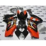Orange and Black GSXR Fairing Set