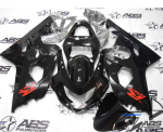 All Black GSXR Fairings kit for GSXR 600/750