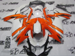 ABS Fairings Pearl White & Orange